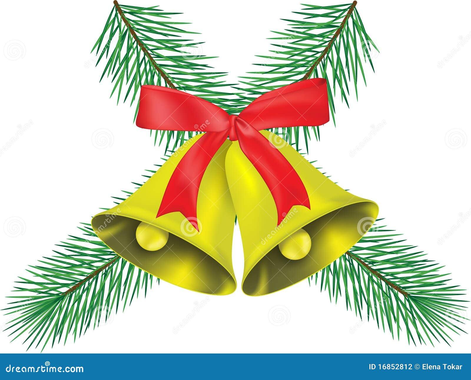 glocke des weihnachten zwei stockfotografie bild 16852812. Black Bedroom Furniture Sets. Home Design Ideas