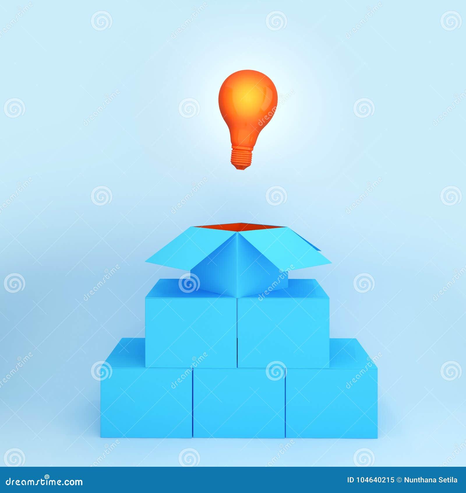 Download Gloeilampen Het Gloeien Denkt Het Creatieve Idee Buiten De Doos, Minima Stock Illustratie - Illustratie bestaande uit elektrisch, creativiteit: 104640215