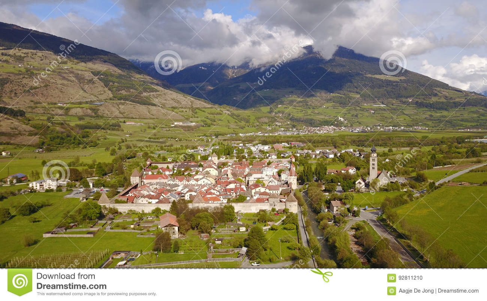 Glorenza en Val Venosta, Tyrol du sud d en haut