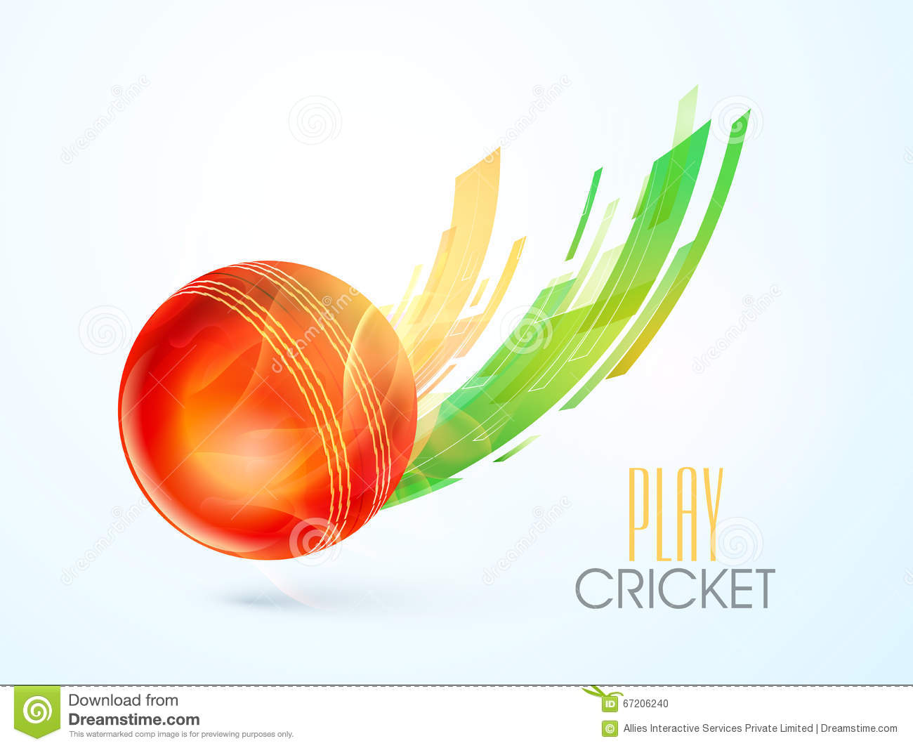 glossy ball for cricket sports concept stock illustration