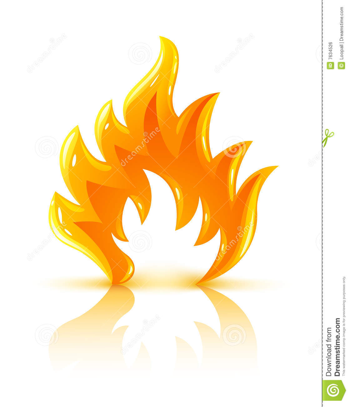 glossy burning fire flame icon royalty free stock image image