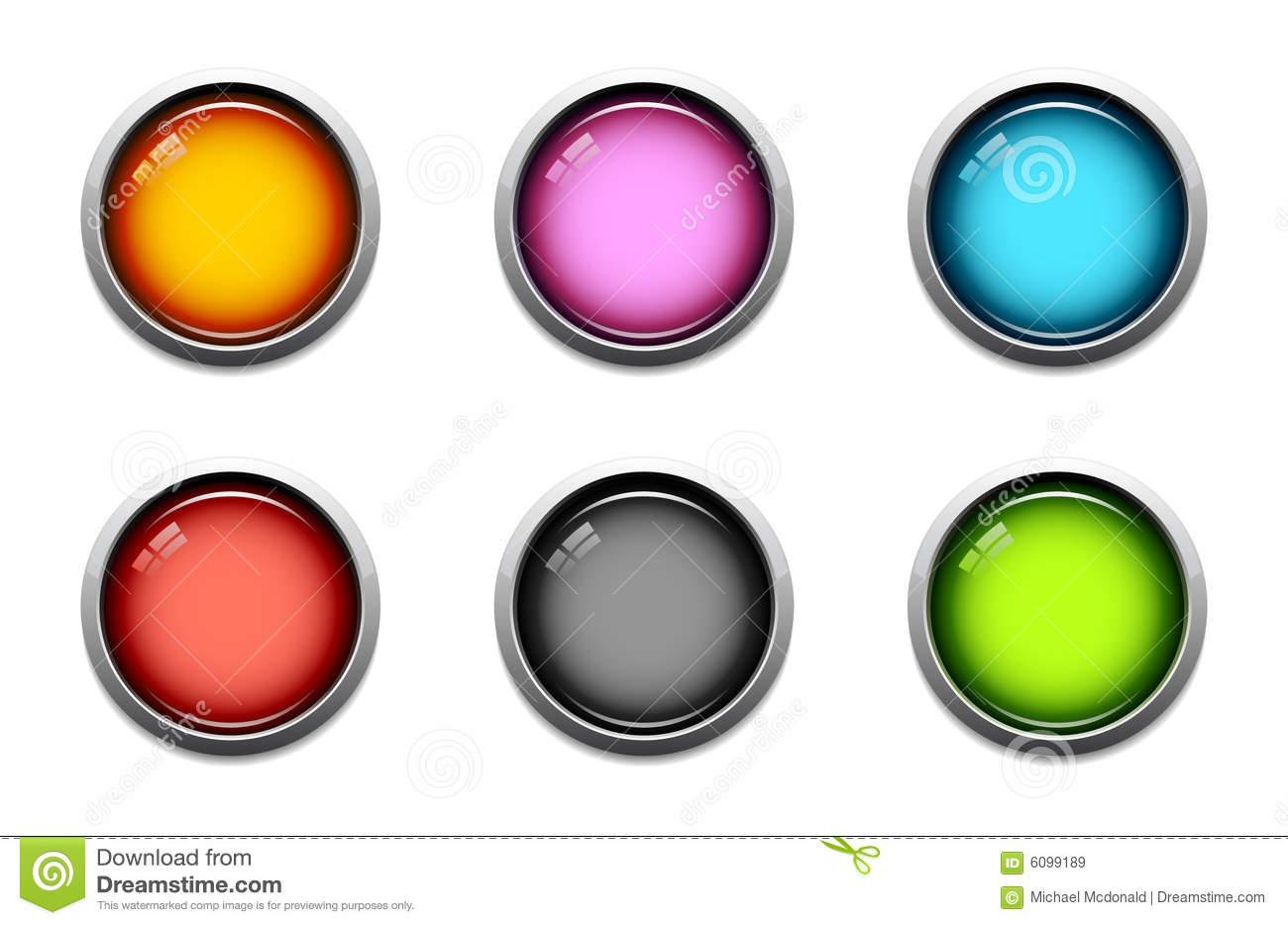 glossy button icons stock vector  illustration of light
