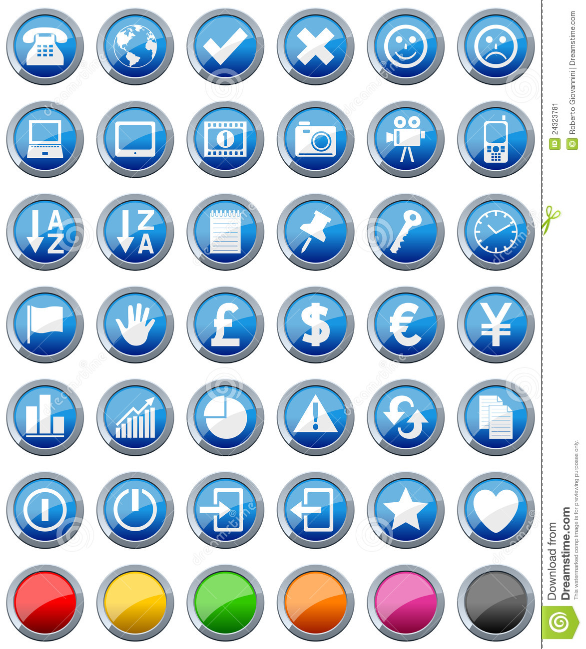 Glossy Buttons Icons Set [2]