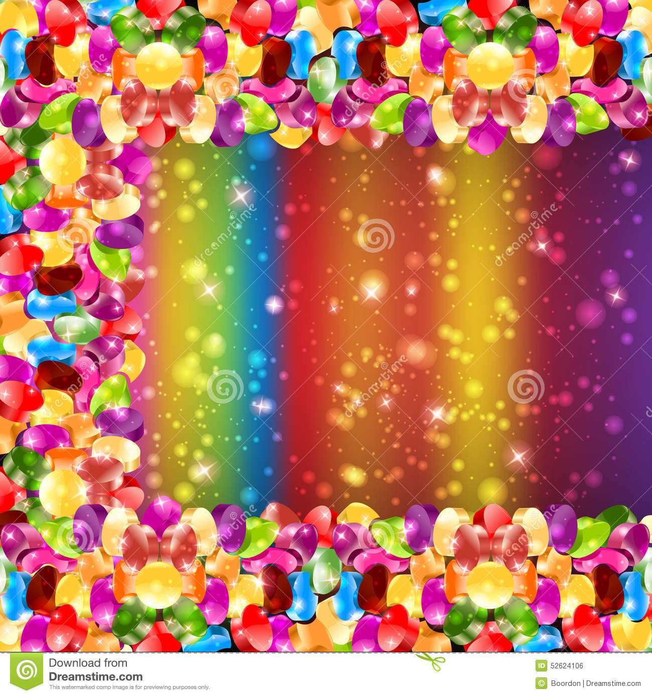 Glossy candy color rainbow background