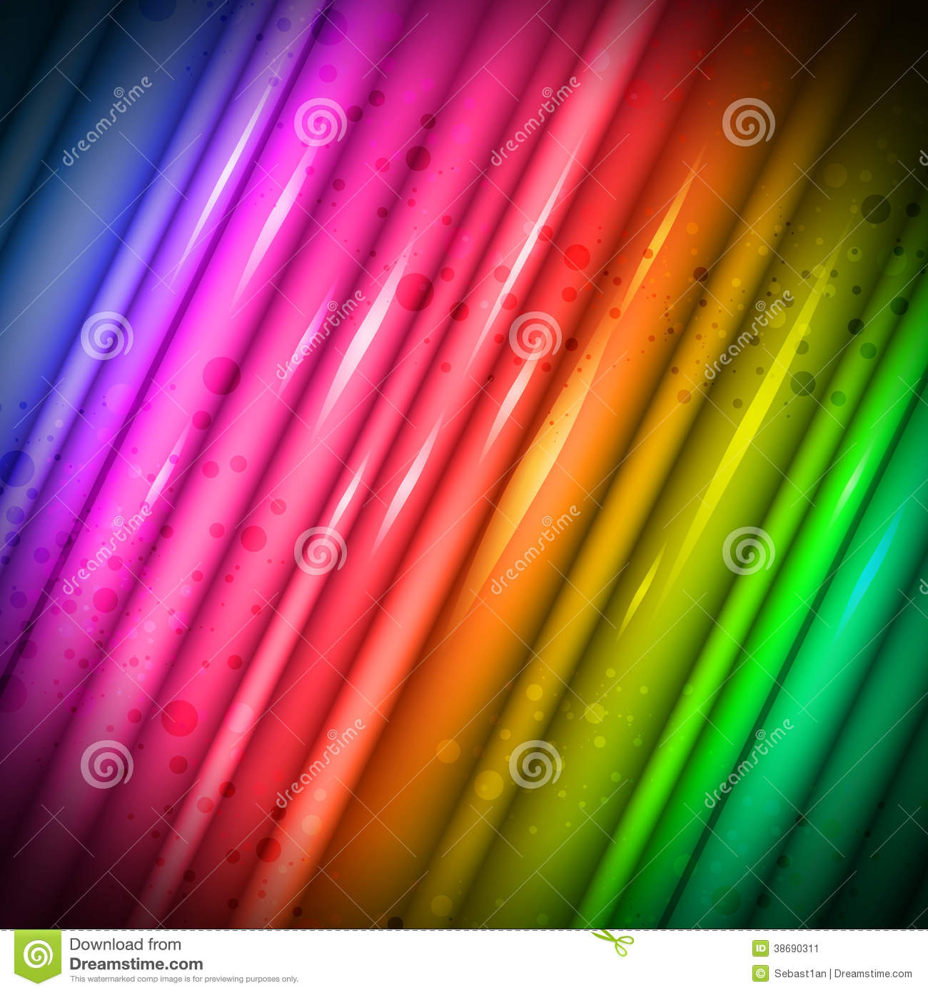Abstract background illustration glossy rainbow color HD Wide Wallpaper for Widescreen