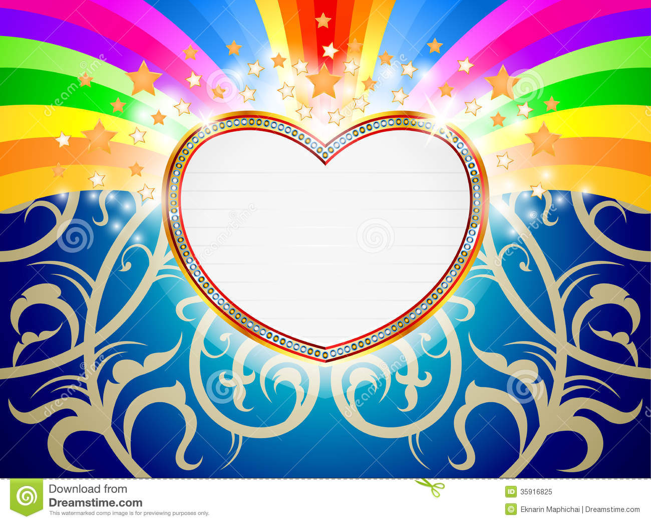 Glossy heart marquee stock illustration. Image of pattern ...