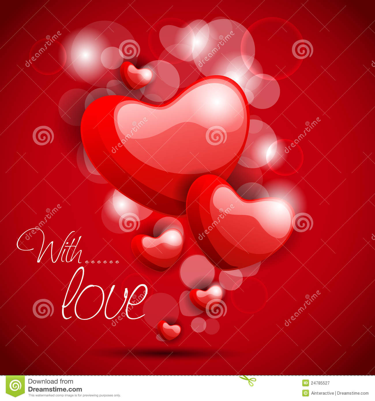 Glossy heart shape in red color on red background royalty - Dreaming about the color red ...