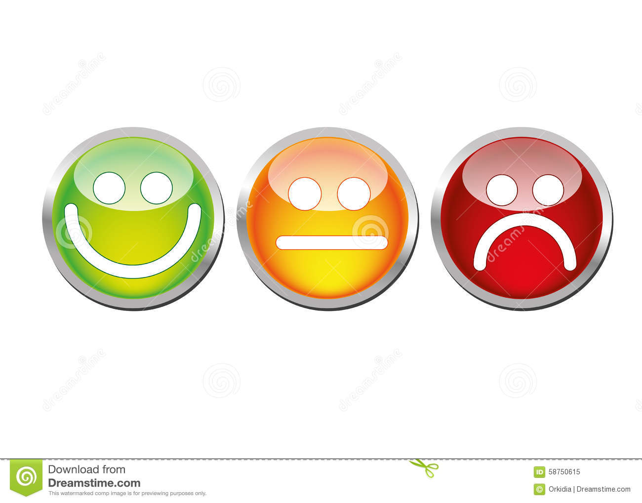 Glossy Mood Emoticons Stock Vector Image 58750615