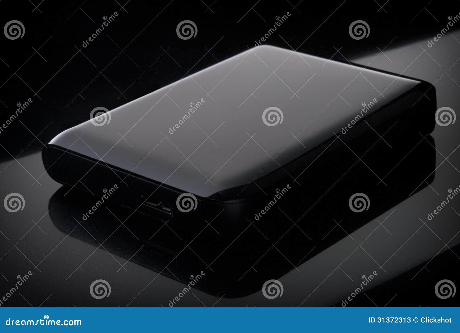 Glossy Portable External Hard Drive Stock Photos Image