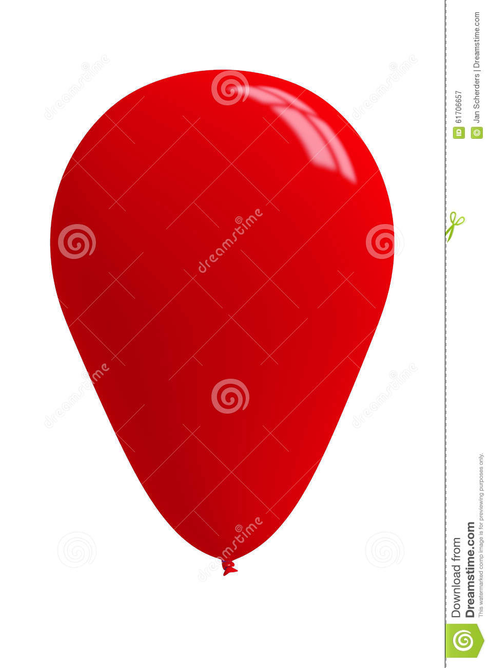 Glossy Red Balloon