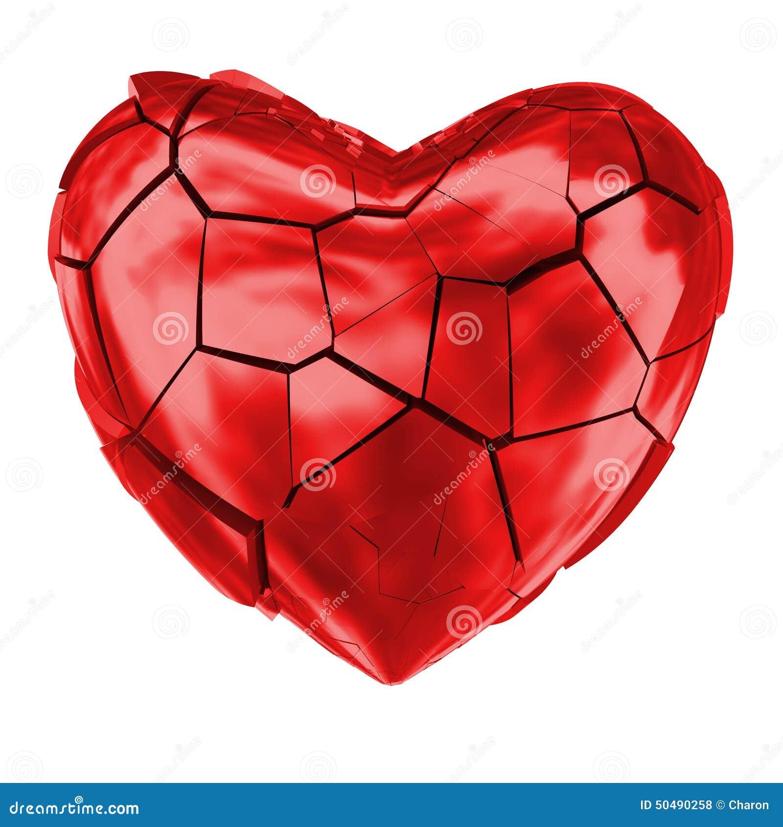 Broken heartheart splitting and breaking apart love symbol stock broken heart glossy red symbol royalty free stock photos biocorpaavc Images