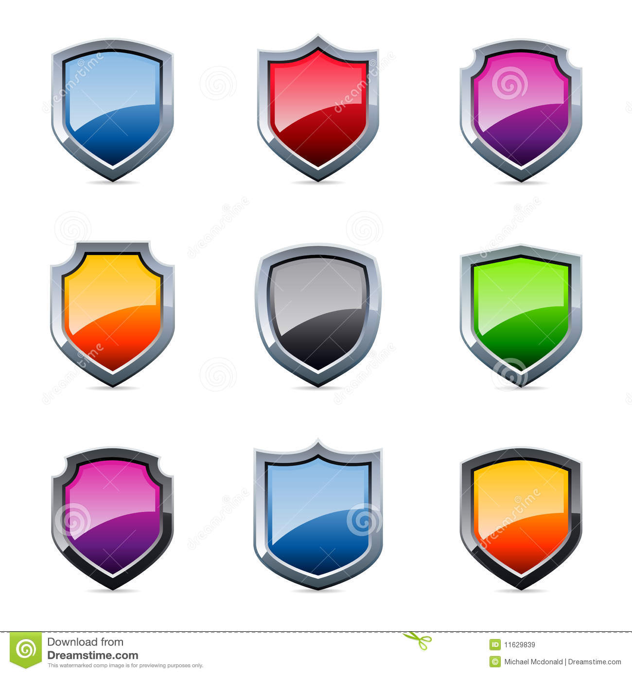 Shield design set royalty free stock photos image 5051988 - Glossy Shield Icons Royalty Free Stock Images