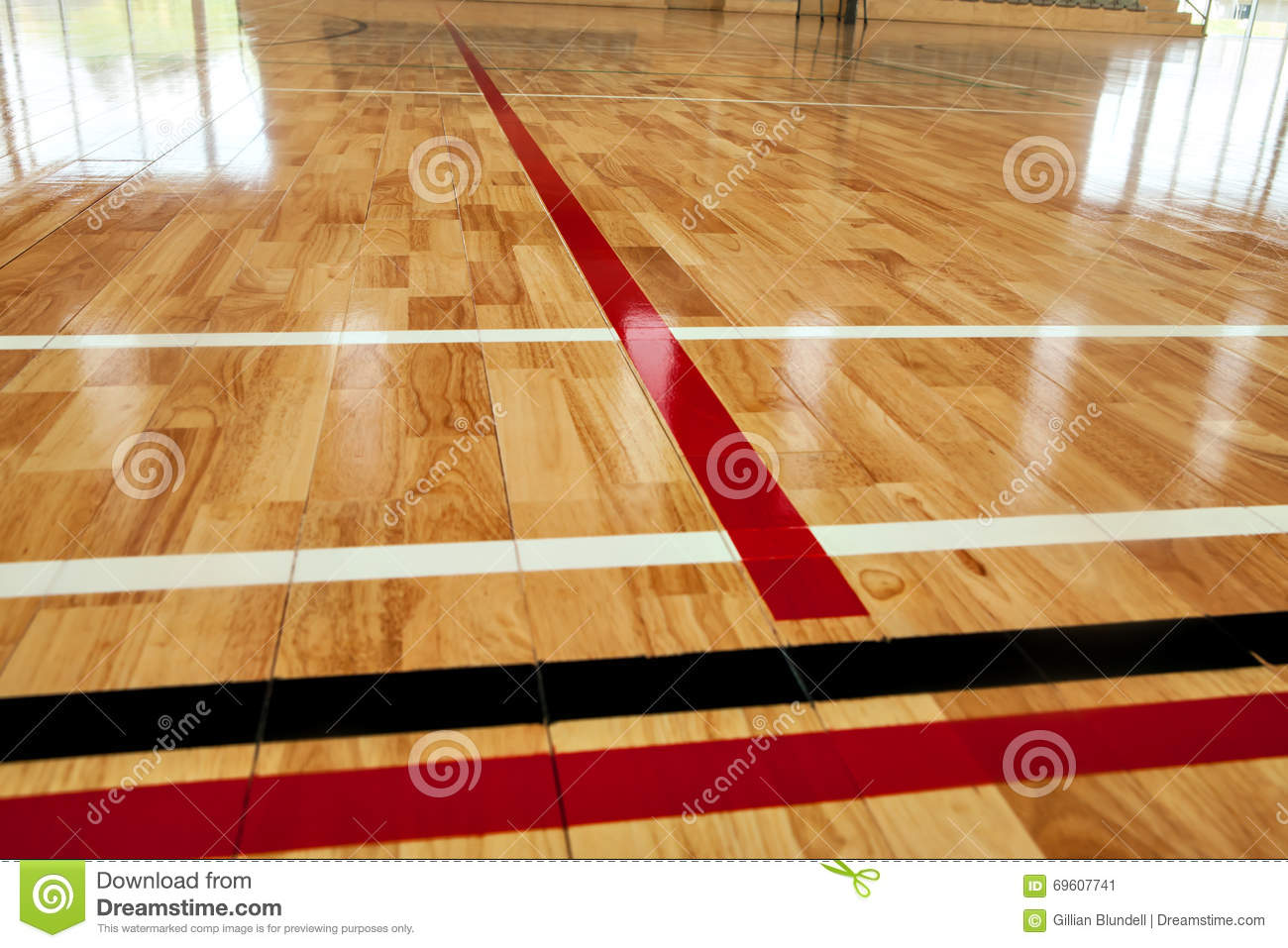 Download Glossy Varnished Sprung Wooden Floor For Sports Basketball Gymnastics Gymnasium With Court