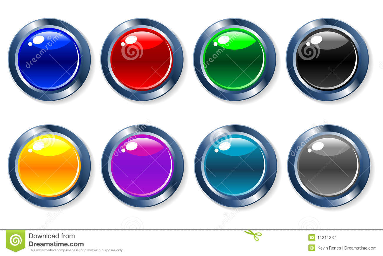 Glossy Vector Buttons Royalty Free Stock Photography - Image: 11311337