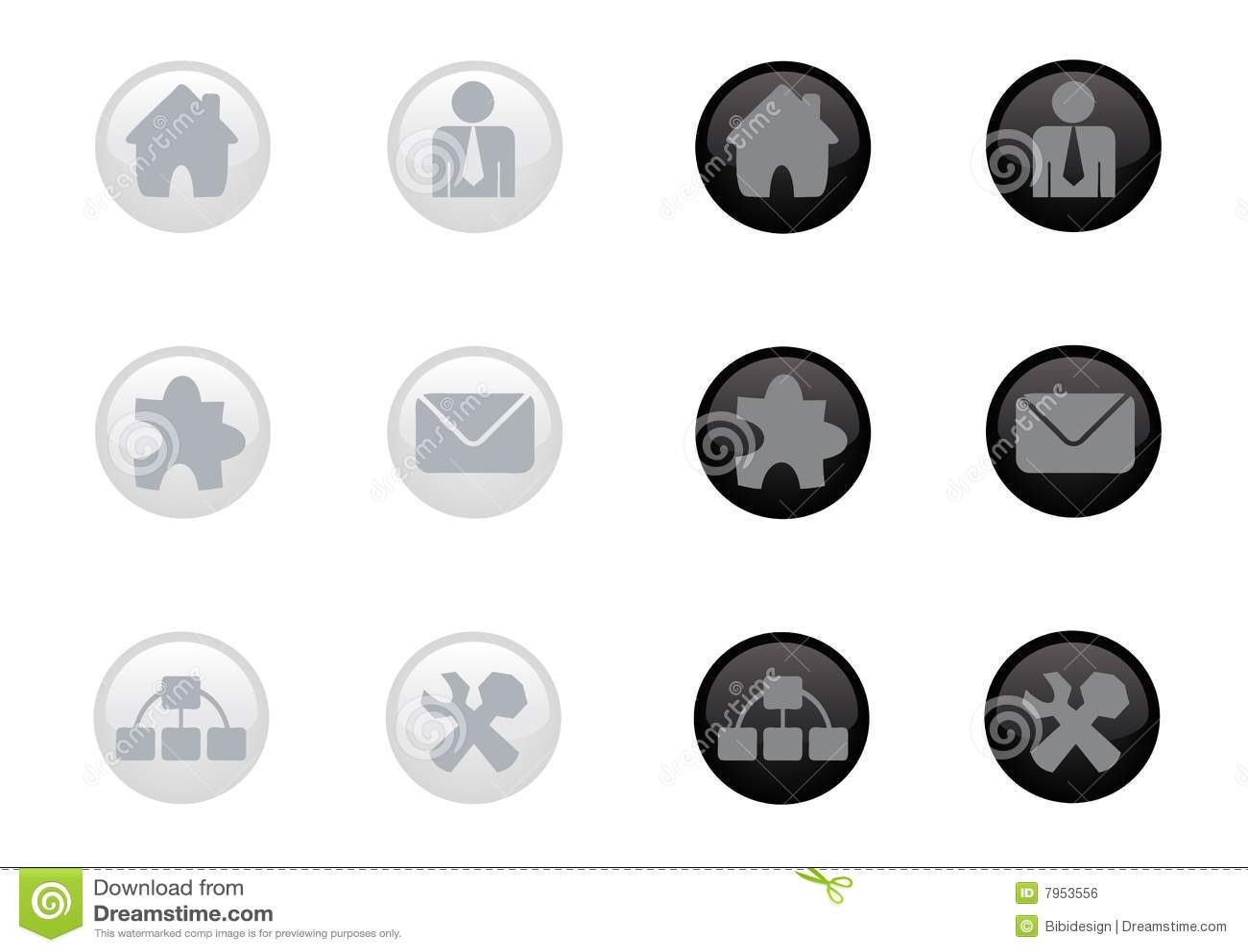 Glossy Web Icon Set