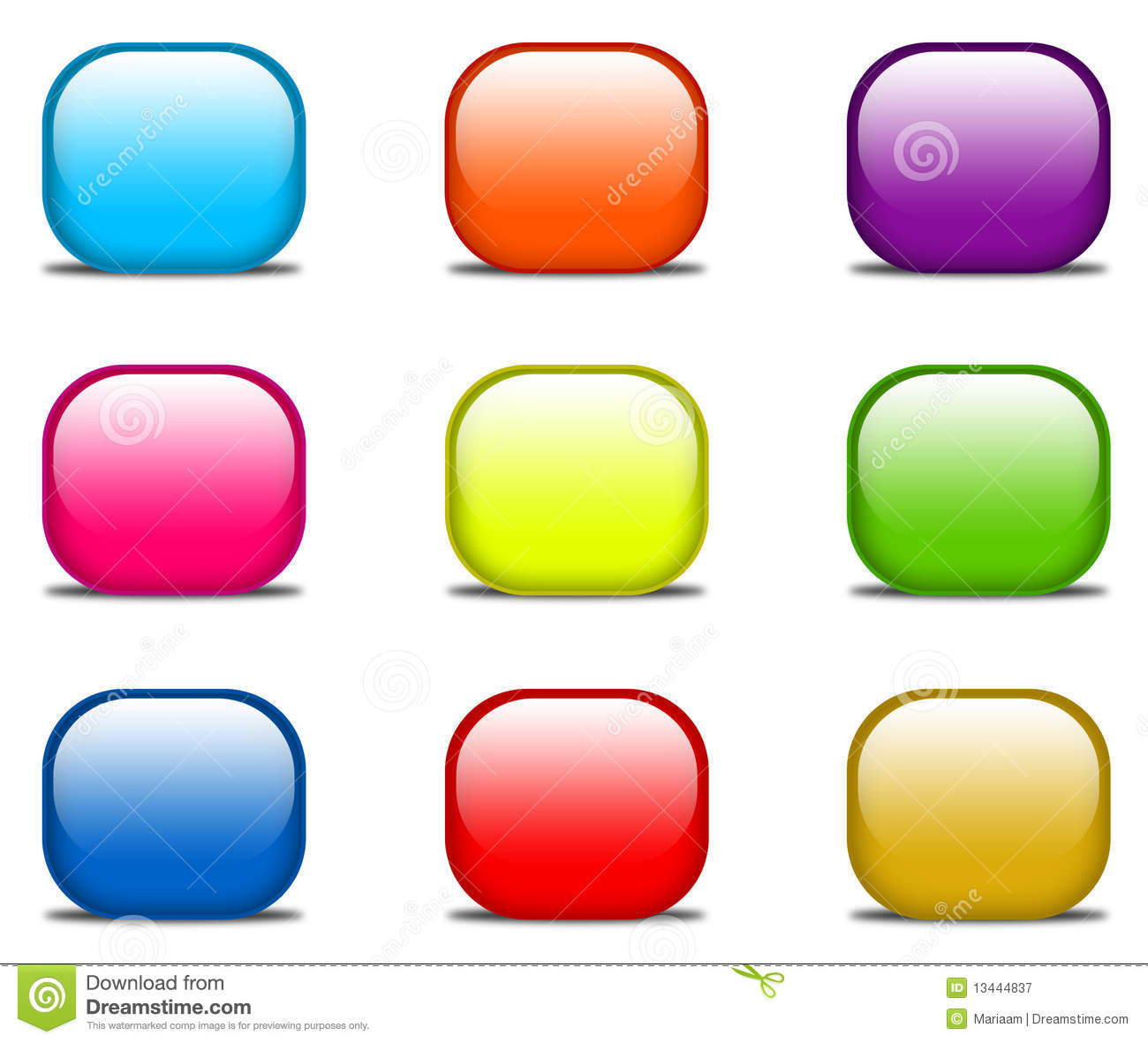 glossy website buttons stock illustration  image of glossy