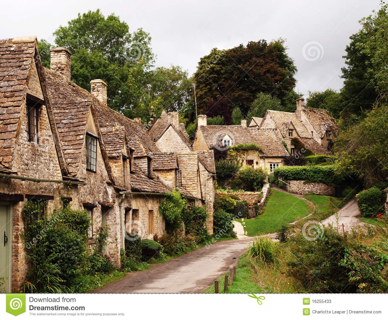 Gloucestershire Cotswolds English Village Stock Photos
