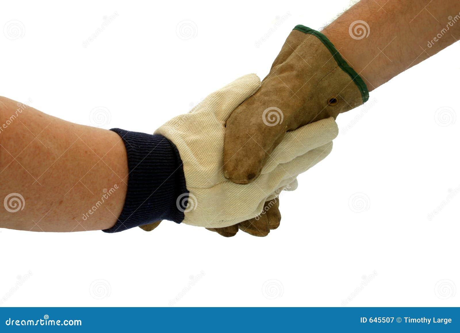 Download Gloved shake руки стоковое изображение. изображение насчитывающей передача - 645507
