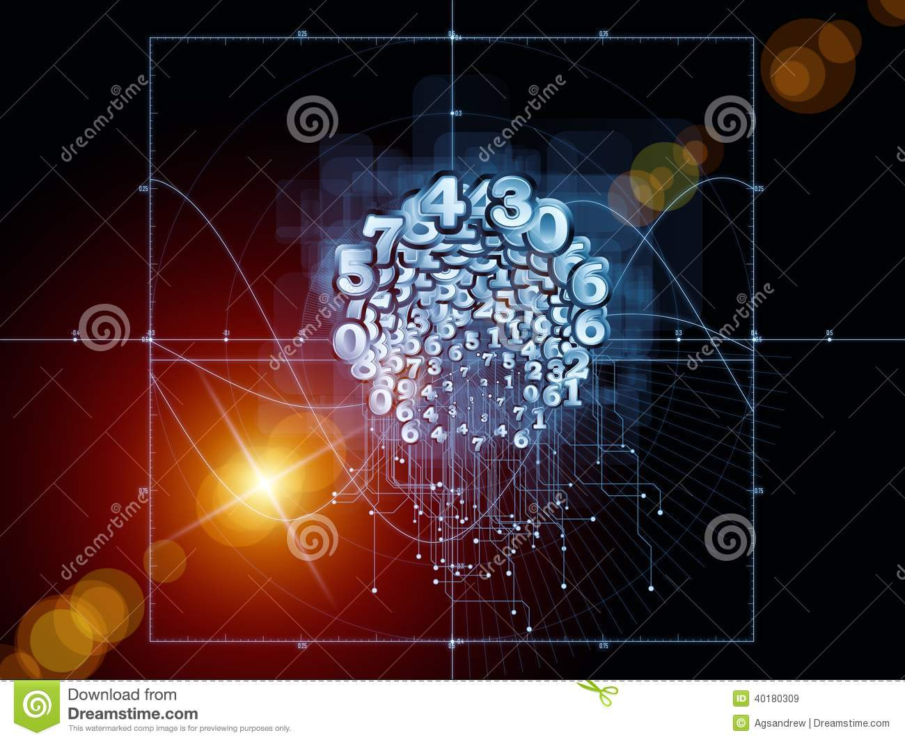 Drawing Lines Between Html Elements : Paradigm of geometry royalty free stock image