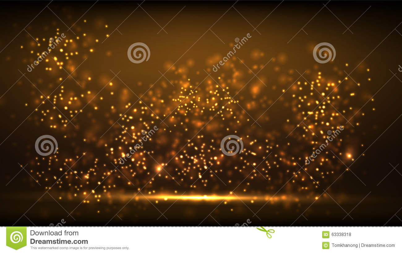 Glow gold light new year background.