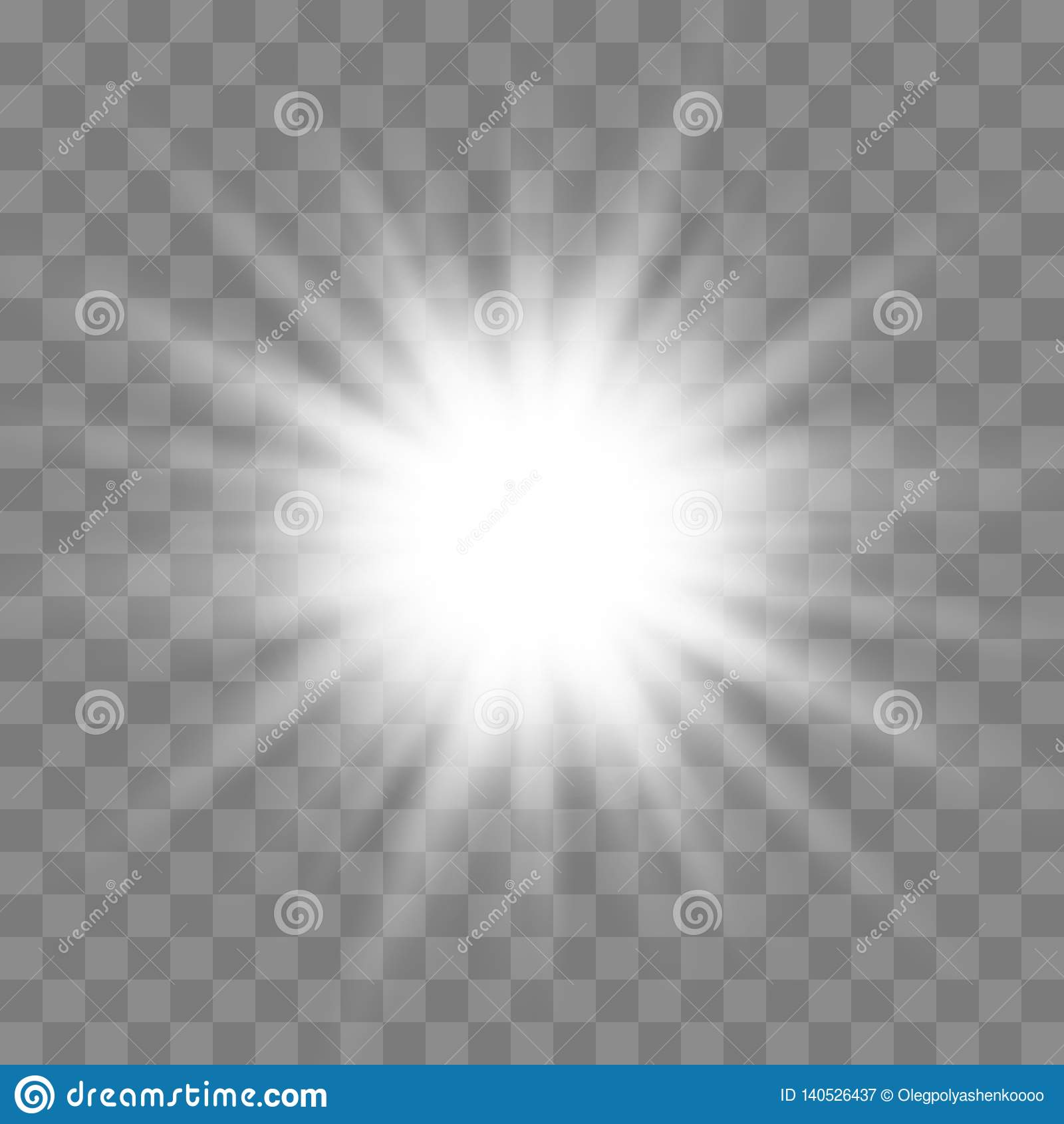 Glow light burst explosion