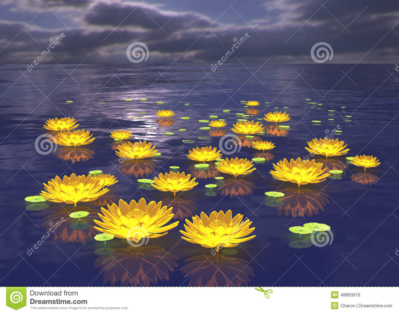 Lotus flower glowing lily water background stock illustration lotus flower glowing lily water background izmirmasajfo