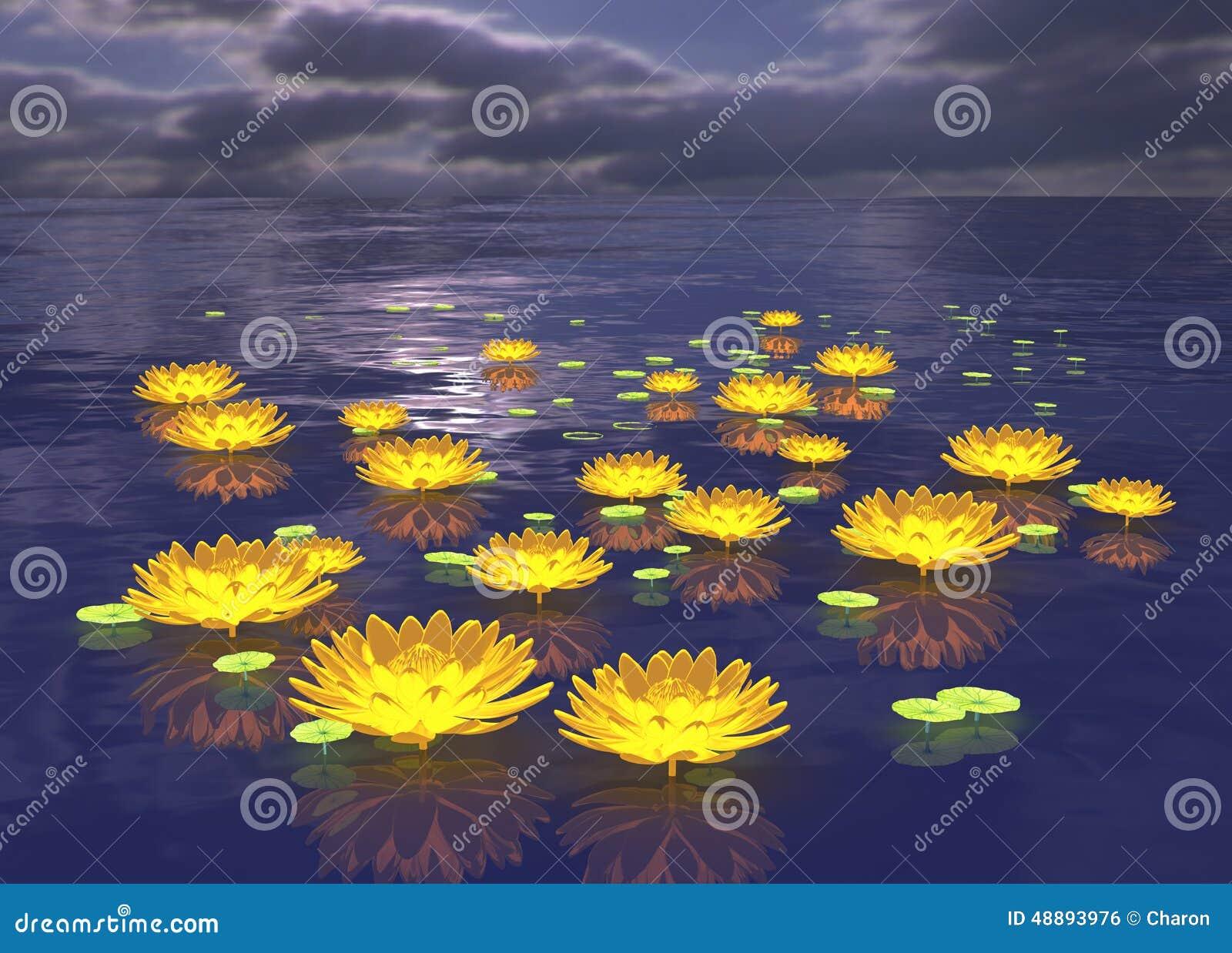 Lotus Flower Glowing W...