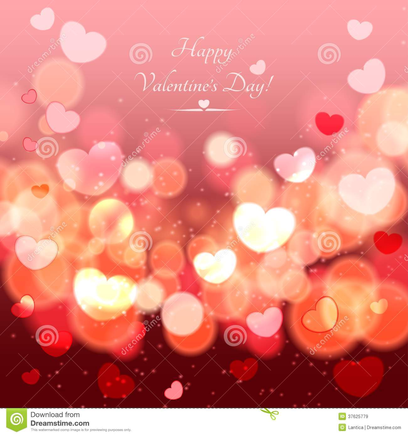 abstract glow soft hearts for valentines day background design