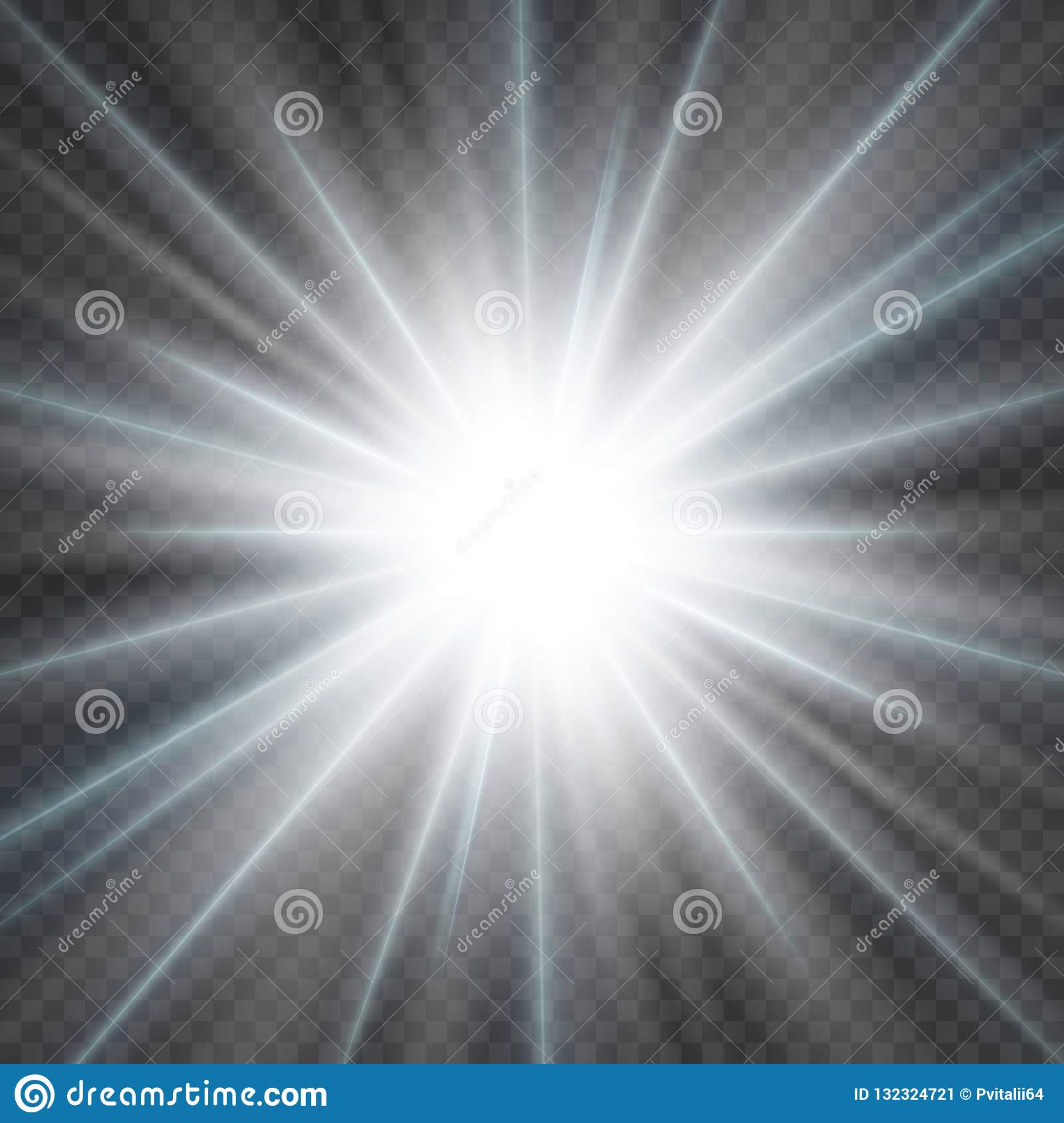 Glowing Light Explodes On A Transparent Background  Stock