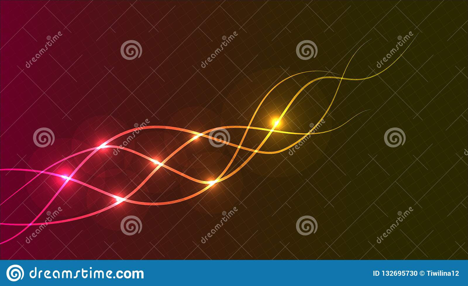 Glowing Abstract Wave Lines Background Purple And Dark