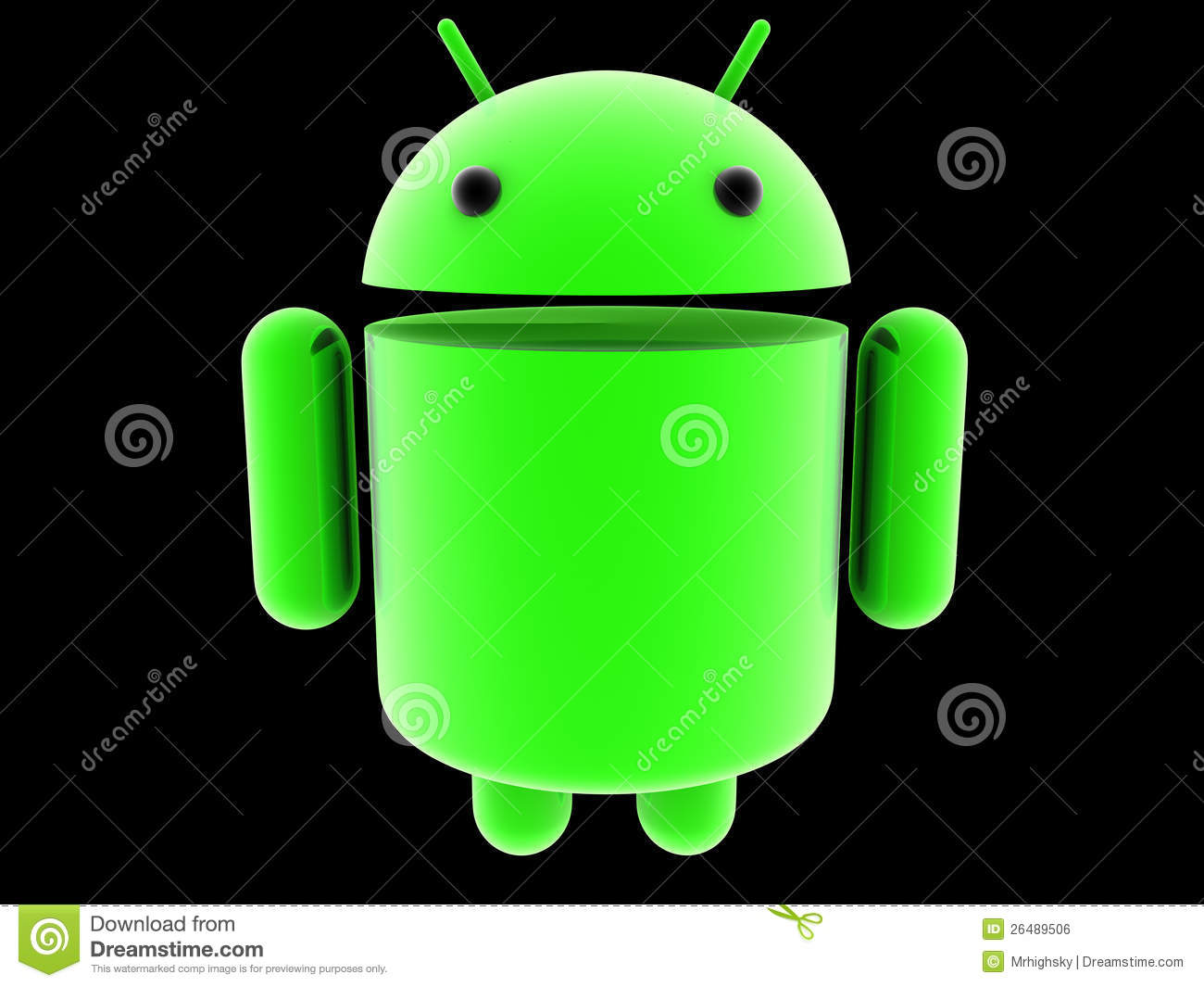 Glowing android 3d logo editorial photo image 26489506 for 3d kuchenplaner android