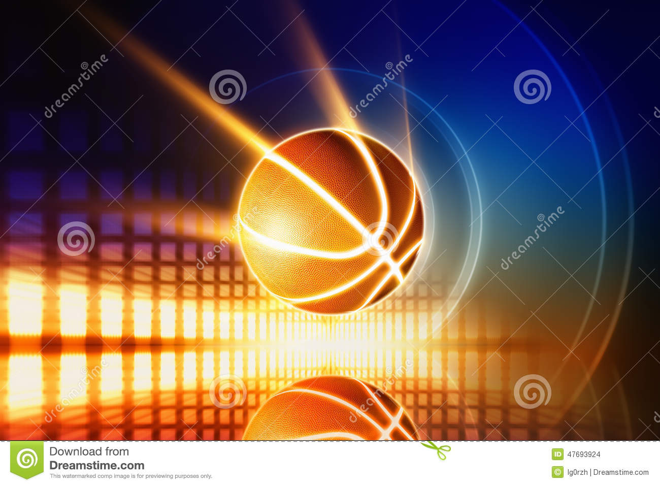 Background Abstract Volleyball Blue Yellow Ball Frame: Glowing Basketball Stock Photo. Image Of Orange, Yellow
