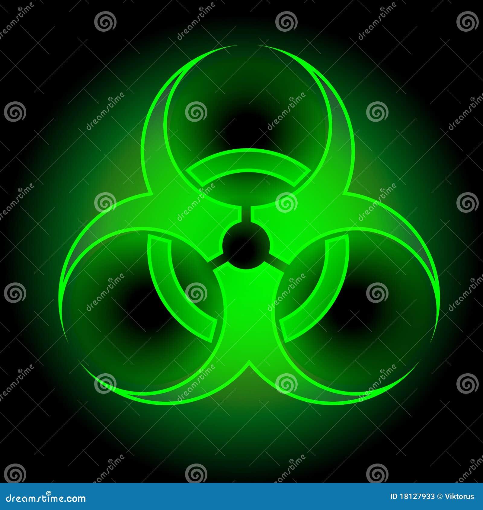 Glowing Biohazard Sign Stock Photos Image 18127933
