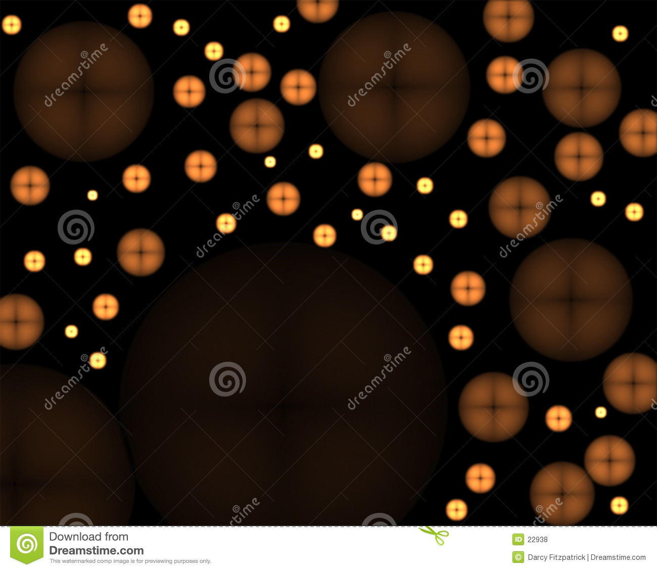 Glowing Buttons Abstract