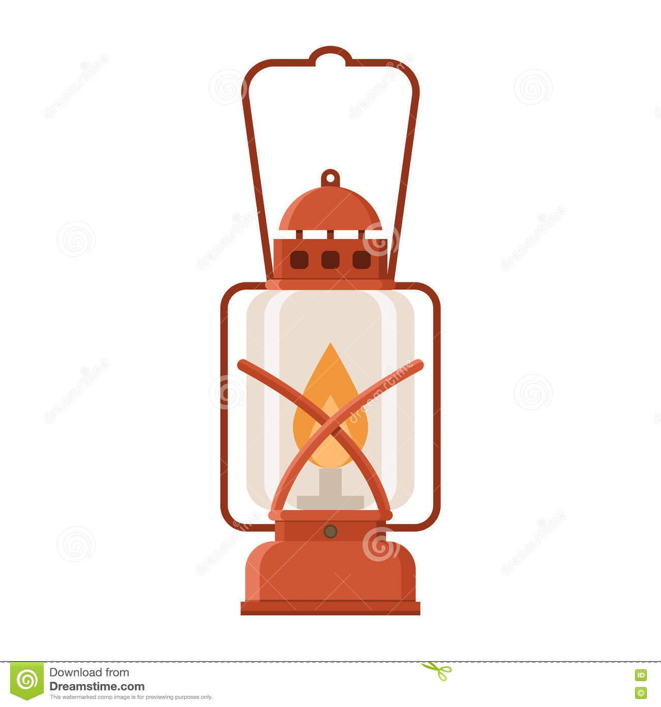Glowing Camping Lantern stock vector. Illustration of design - 76403879 for Fire Lamp Clipart  34eri