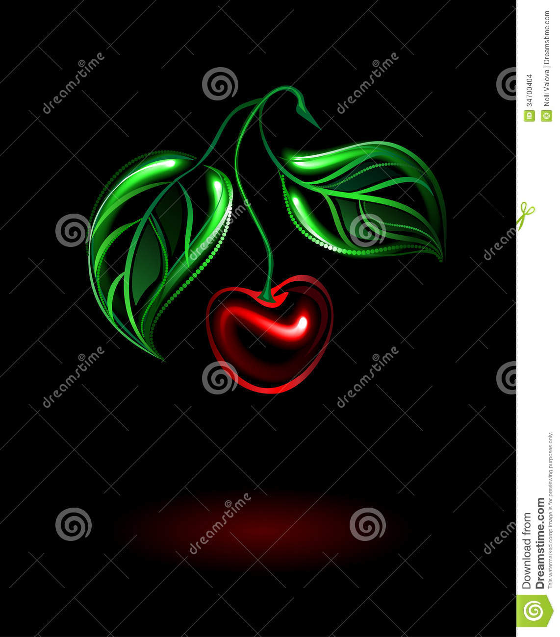Glowing Cherry Stock Images - Image: 34700404