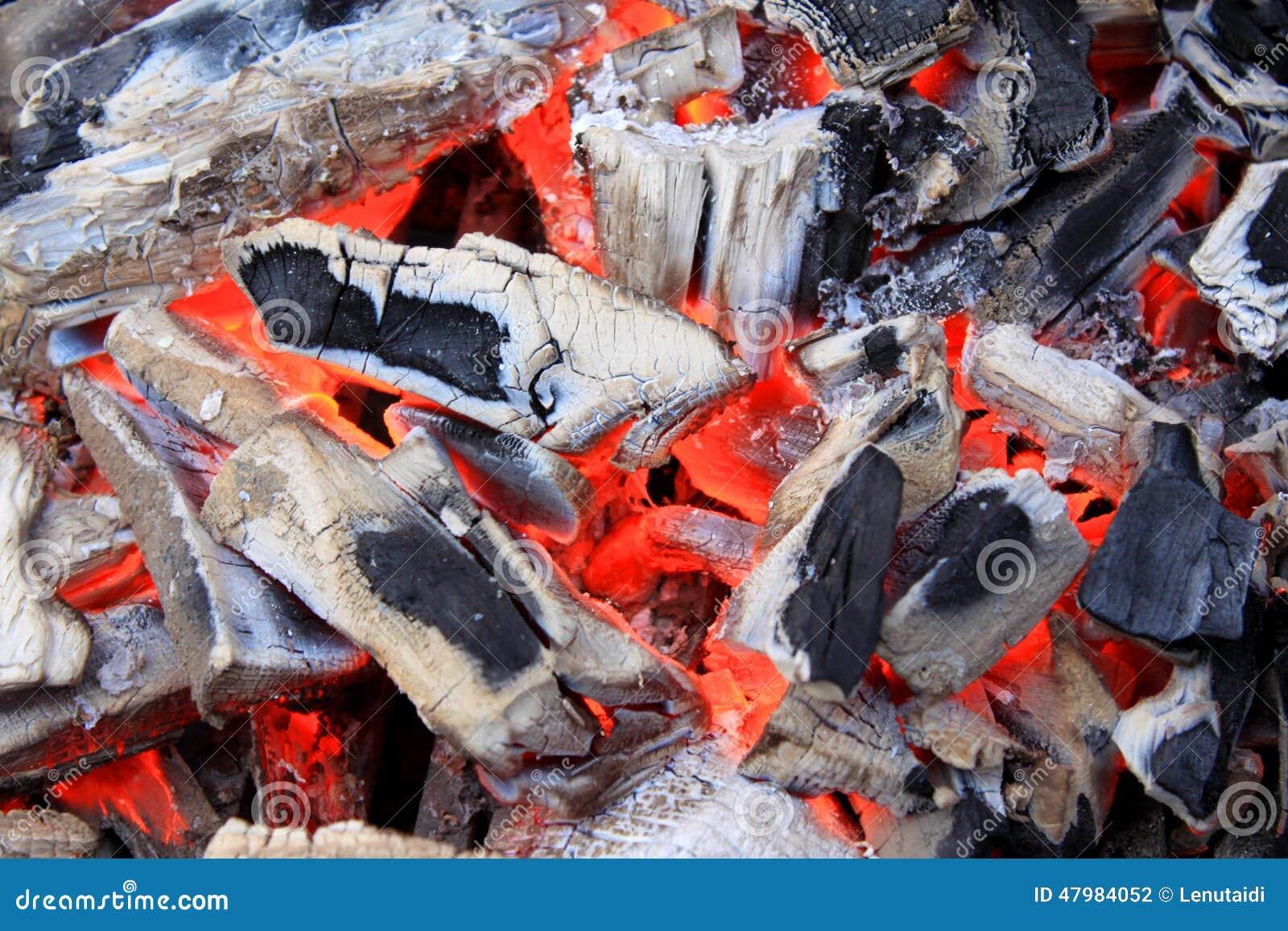 Glowing coals