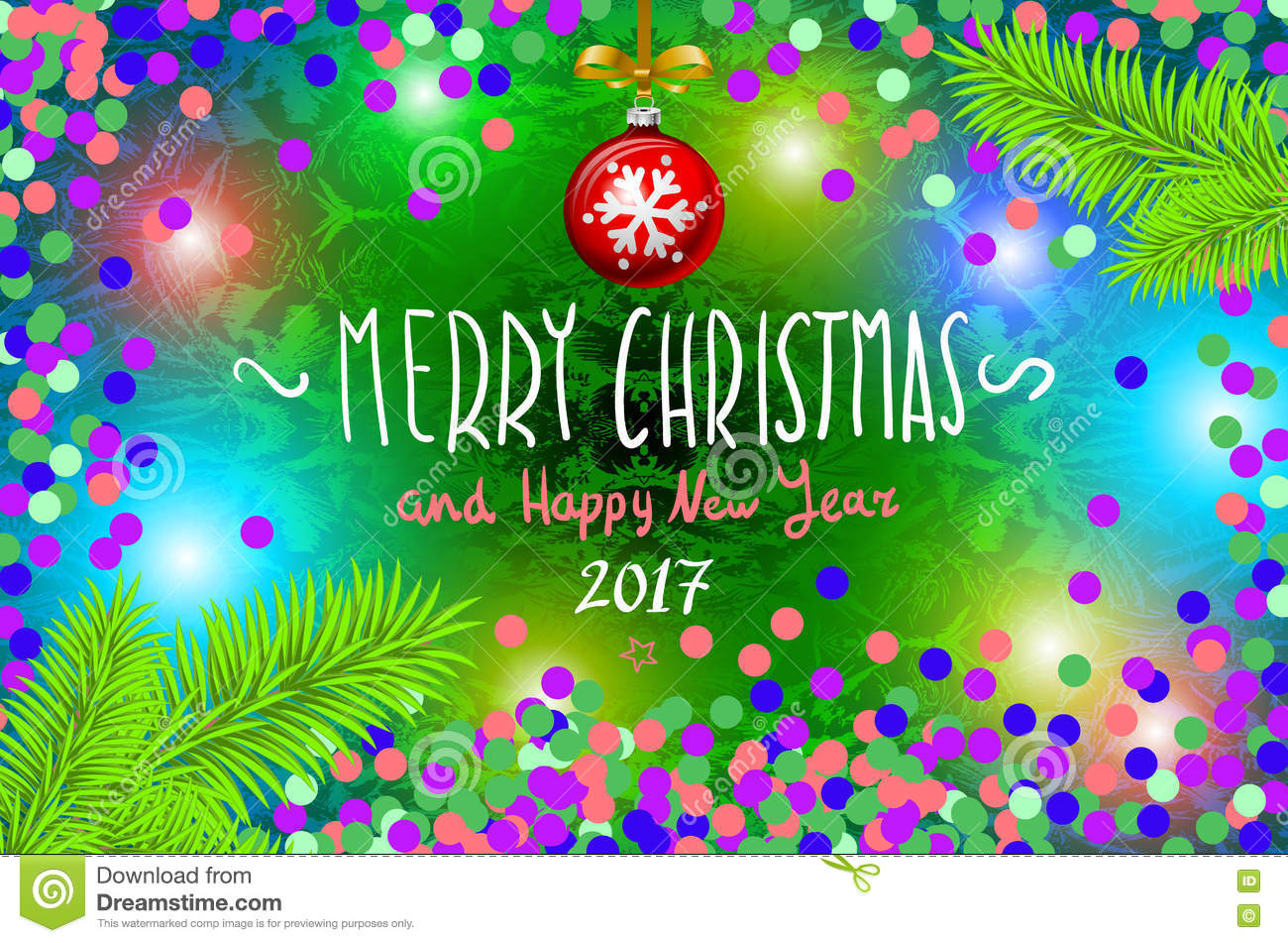 Glowing color christmas lights wreath for xmas holiday greeting glowing color christmas lights wreath for xmas holiday greeting cards design merry christmas and happy new year 2017 vector con light illustration kristyandbryce Gallery