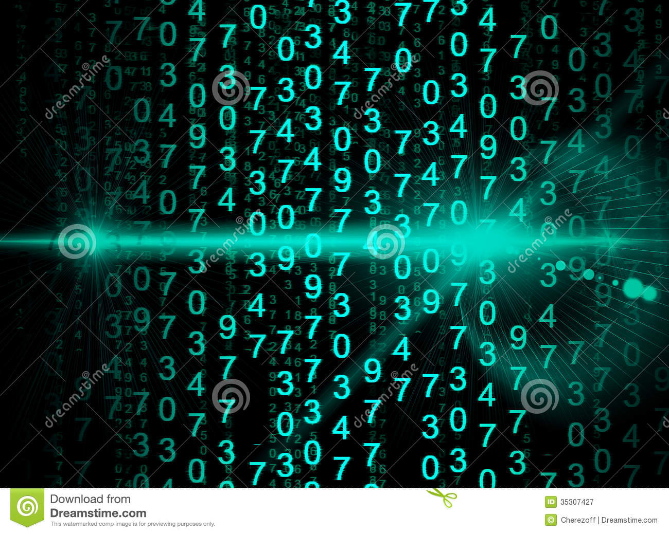 glowing digital code on a dark background royalty free stock photography