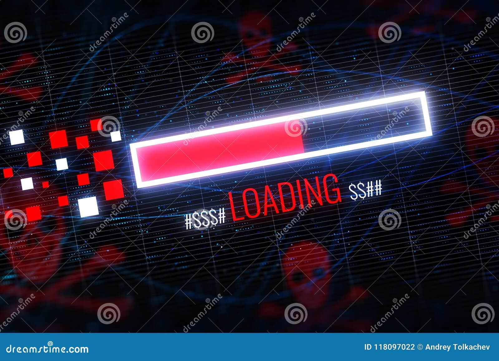 Glowing Digital Skull Wallpaper Stock Illustration Illustration Of Dollar Internet 118097022