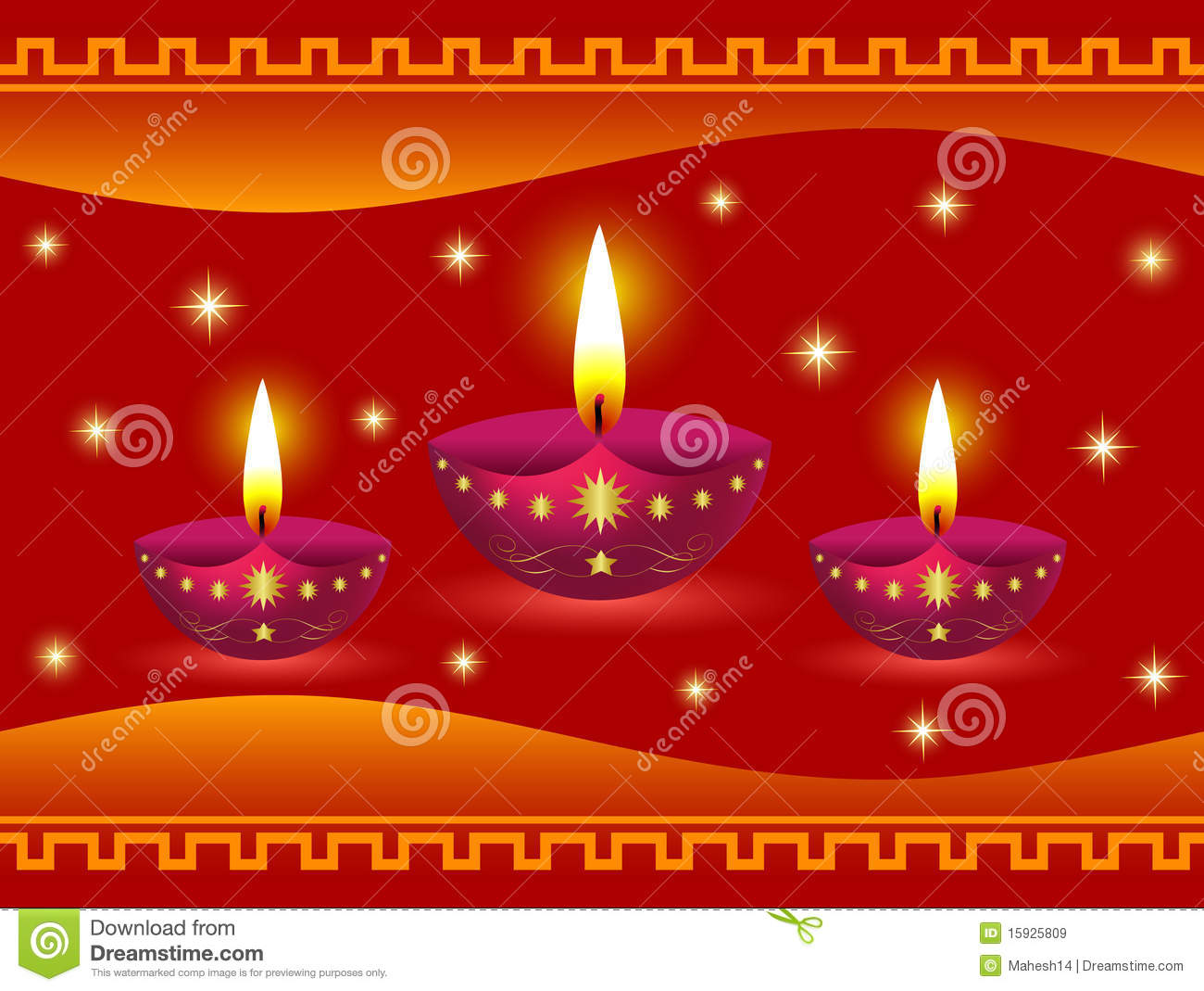 glowing diwali lamps royalty free stock images