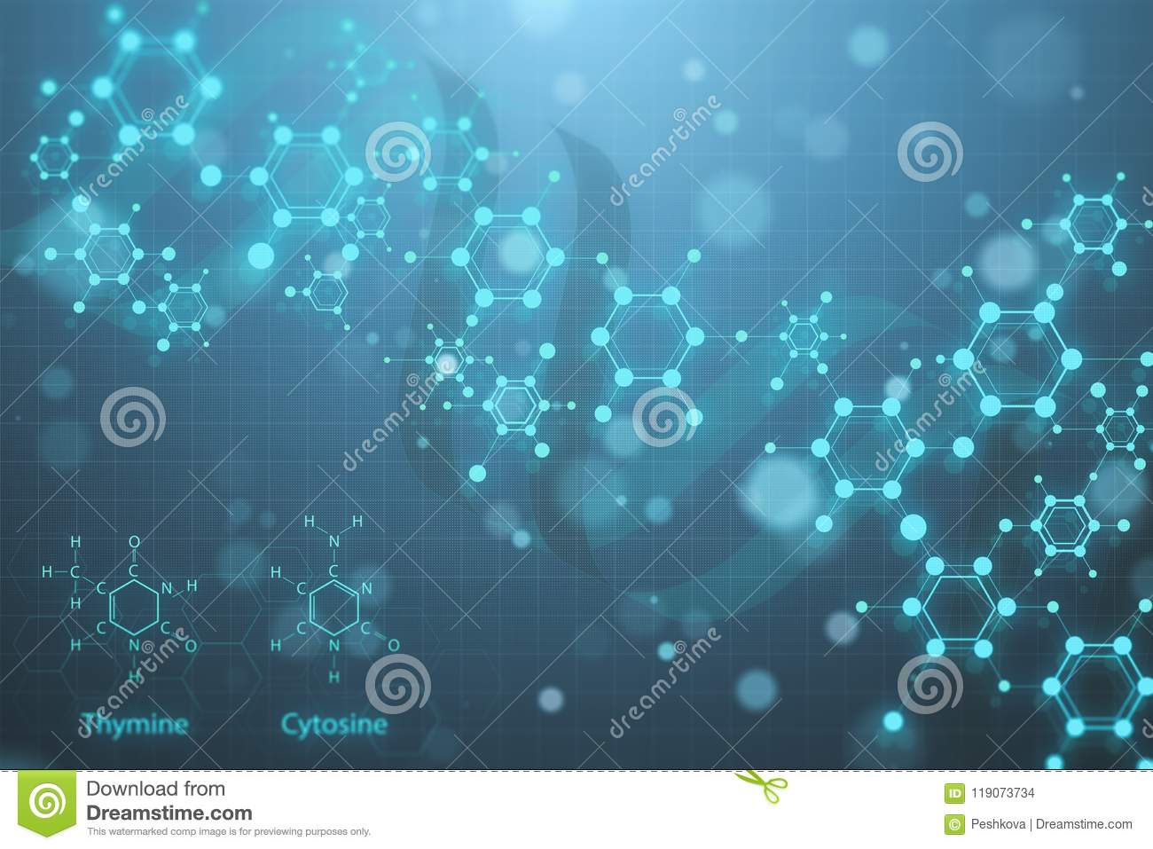 Glowing DNA Wallpaper Stock Illustration Of Health