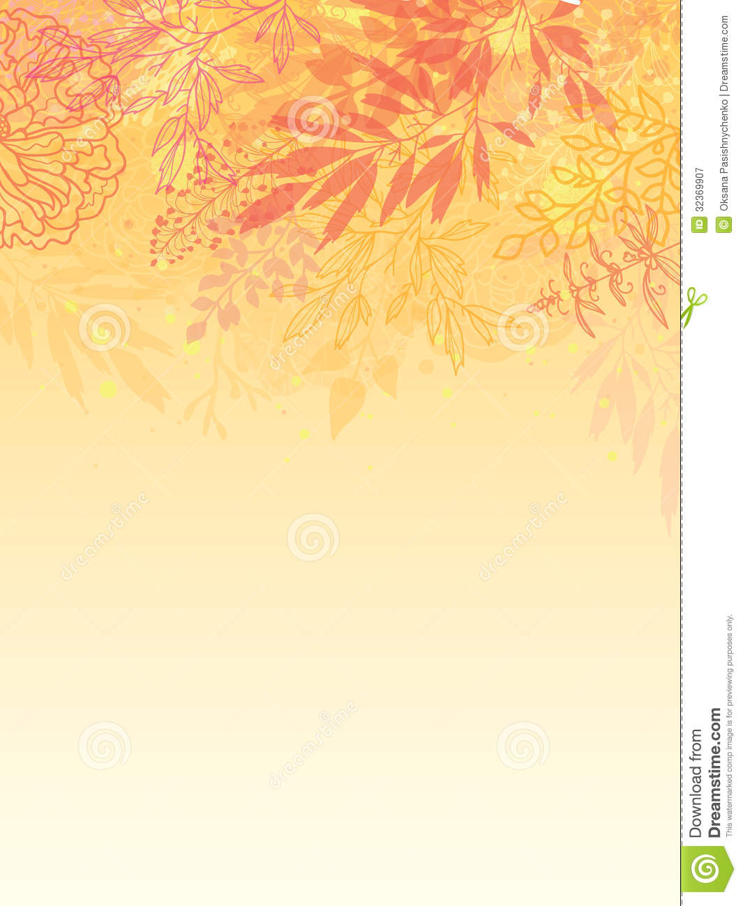 Glowing Fall Plants Vertical Background Royalty Free Stock Photography ...