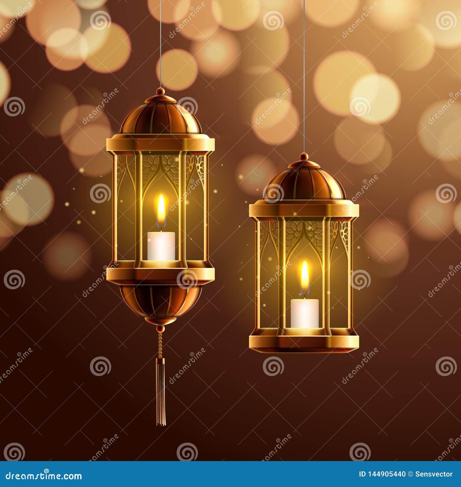 Glowing fanous or vintage fanoos, hanging lantern