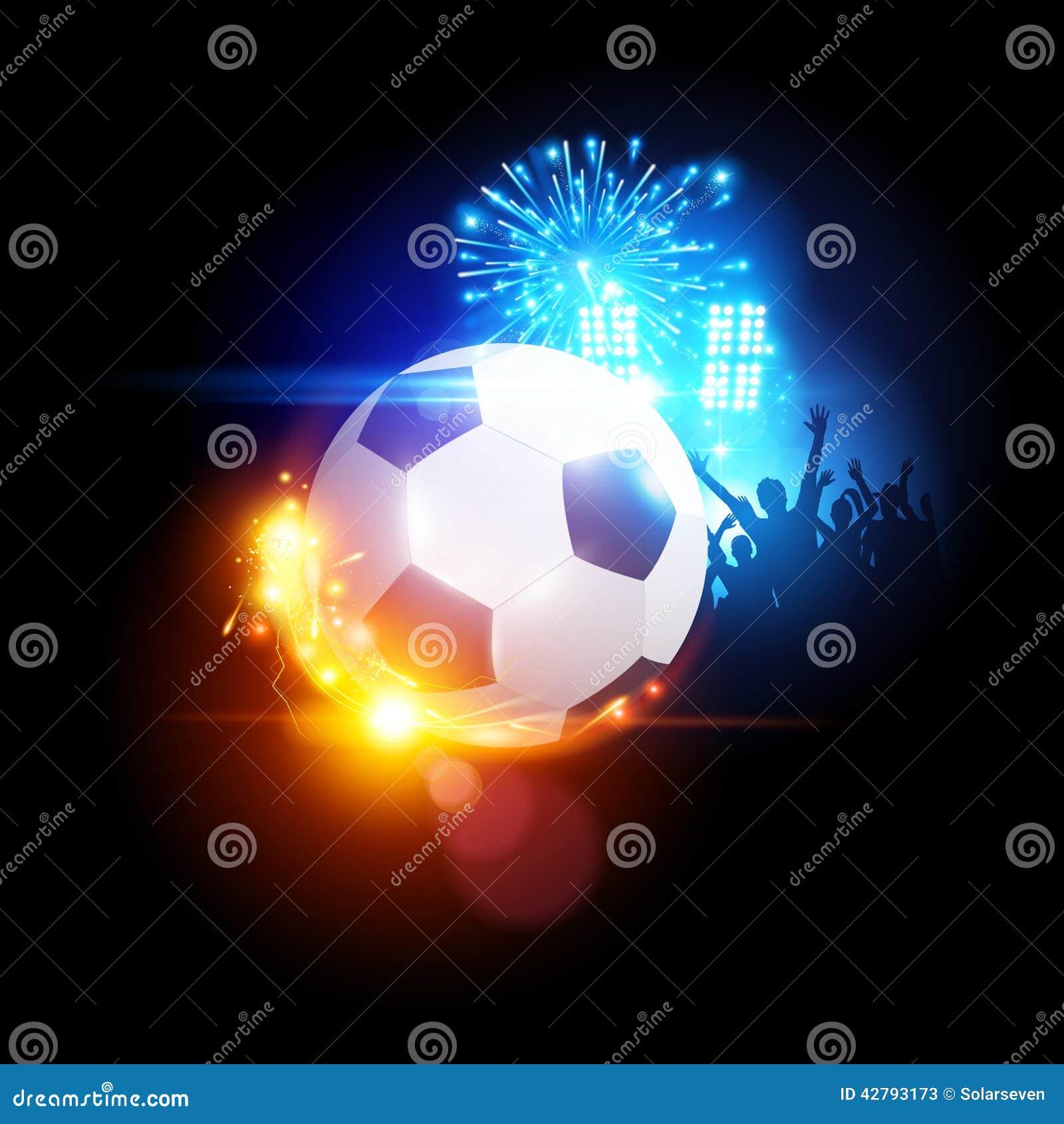 Stadium Lights Svg: Glowing Football Stock Vector