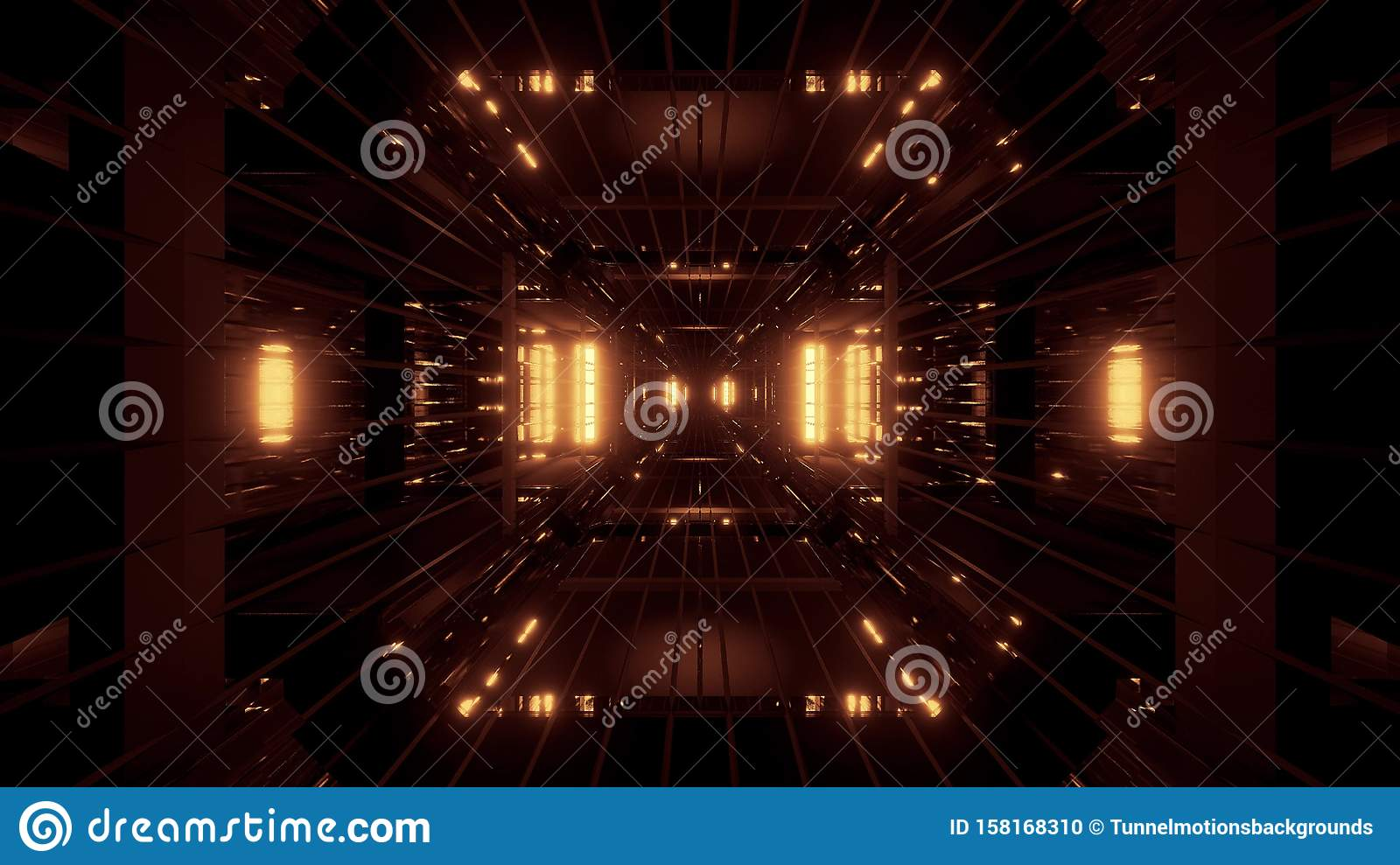 Glowing Futuritic Sci Fi Tunnel With Wireframe 3d Rendering Wallpaper Backgrounds Stock Illustration Illustration Of Dark Glow 158168310