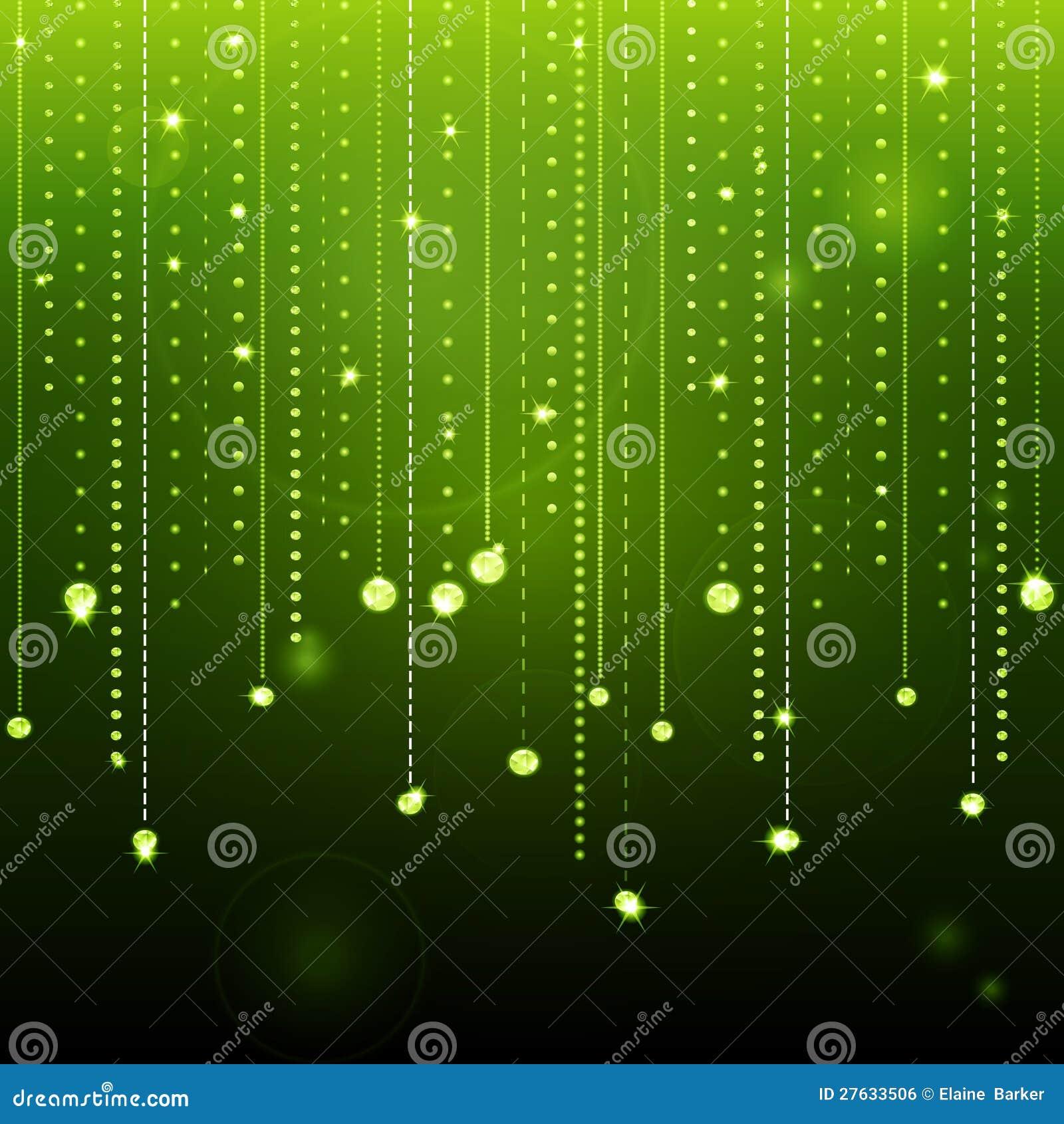 glowing green diamond background stock vector