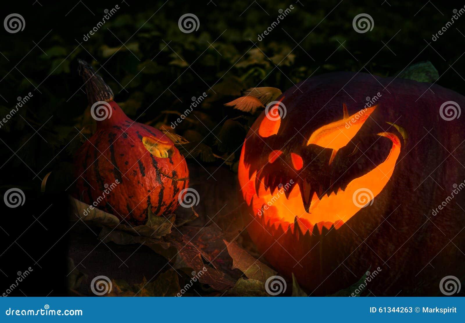 glowing halloween jack o u0027 lantern pumpkin stock photo image