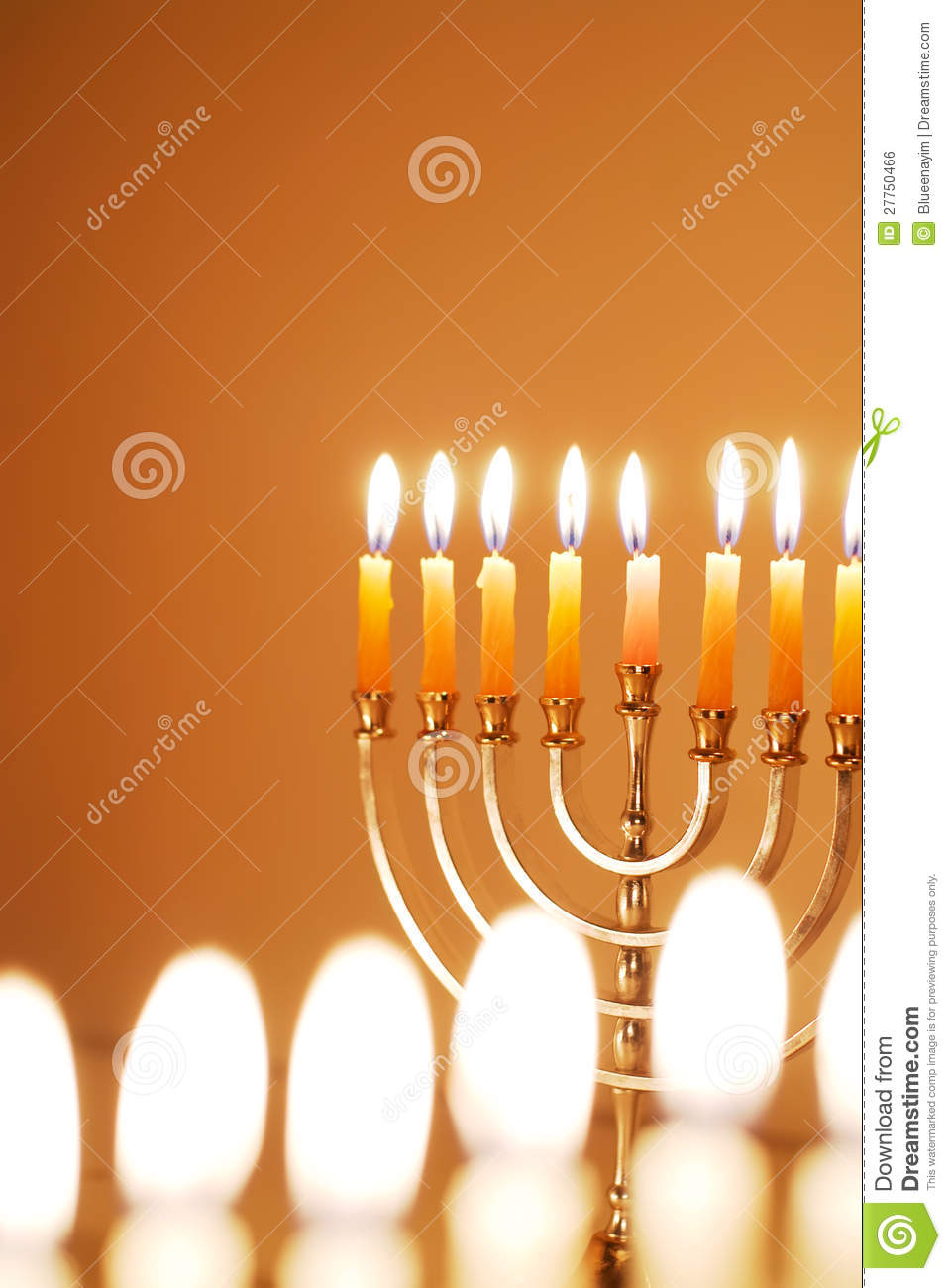Glowing Hanukkah Candles