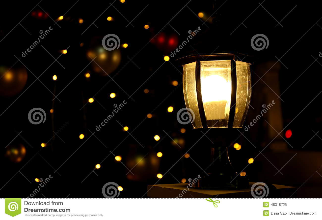 Lighting Black Background >> Christmas Tree Lights Light Background Stock Image - Image of black, illuminate: 48318725